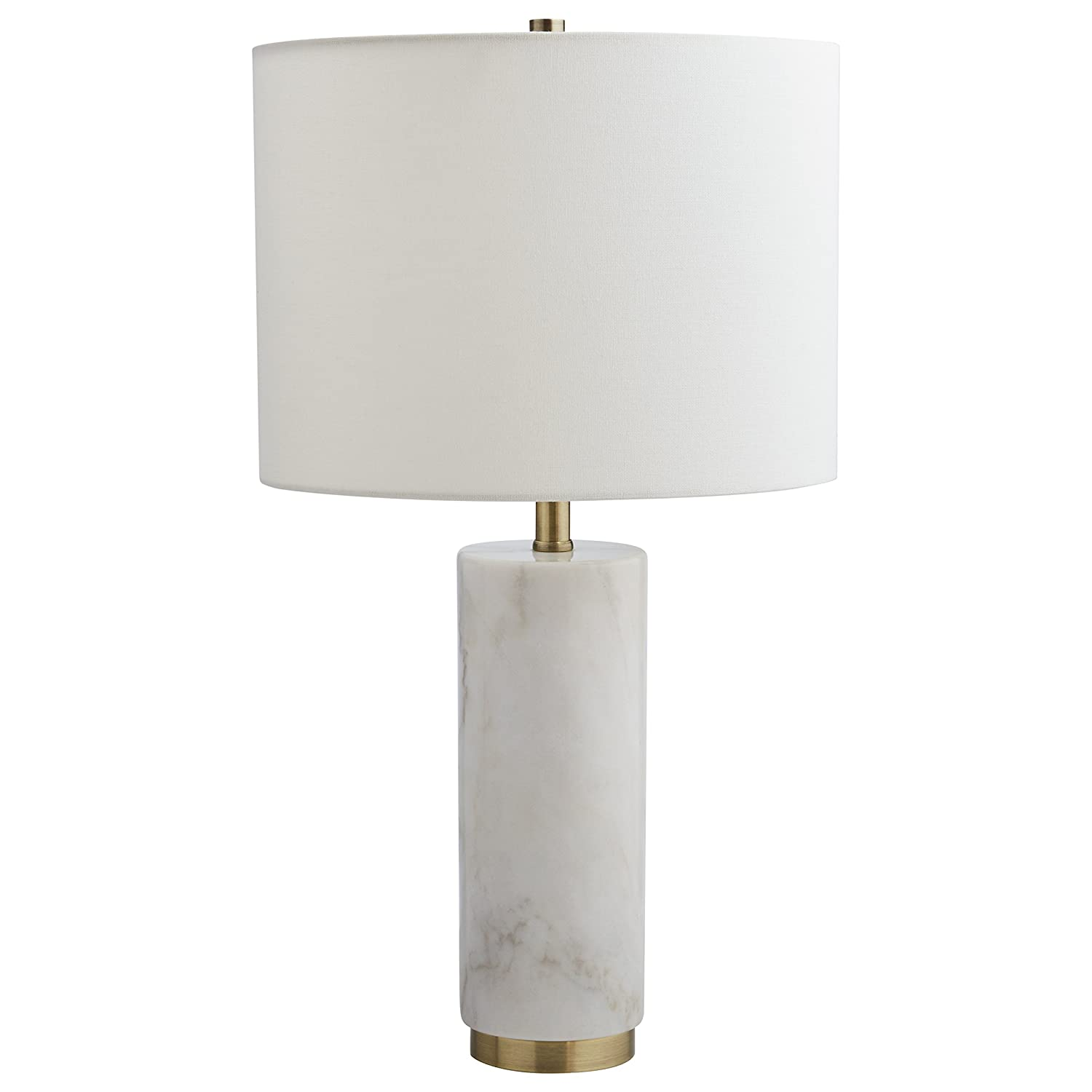 Amazon Com Rivet Modern Marble Table Lamp 22 H With Bulb White
