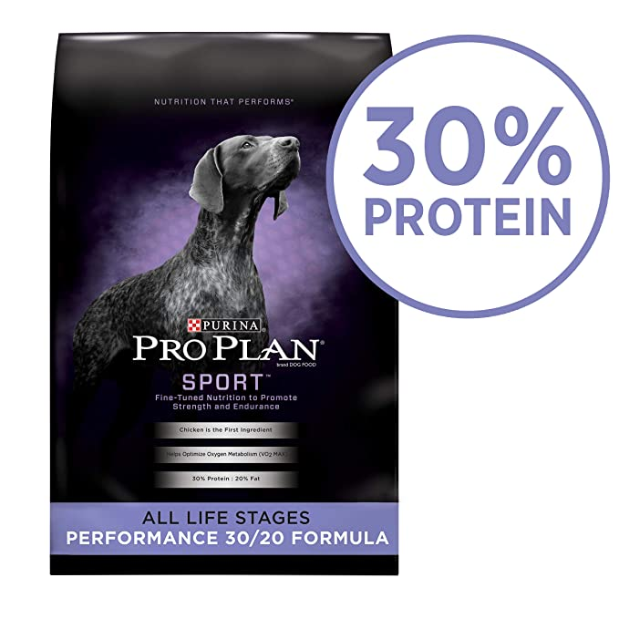 Purina Pro Plan SPORT Performance 30/20 Formula Dry Dog Food - The Best High-Calorie Dog Food for Competitive Sport Dogs