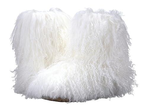 f1bd4ff34b1 UGG Women's Fluff Momma Mongolian White 6 B US B (M): Amazon.ca ...