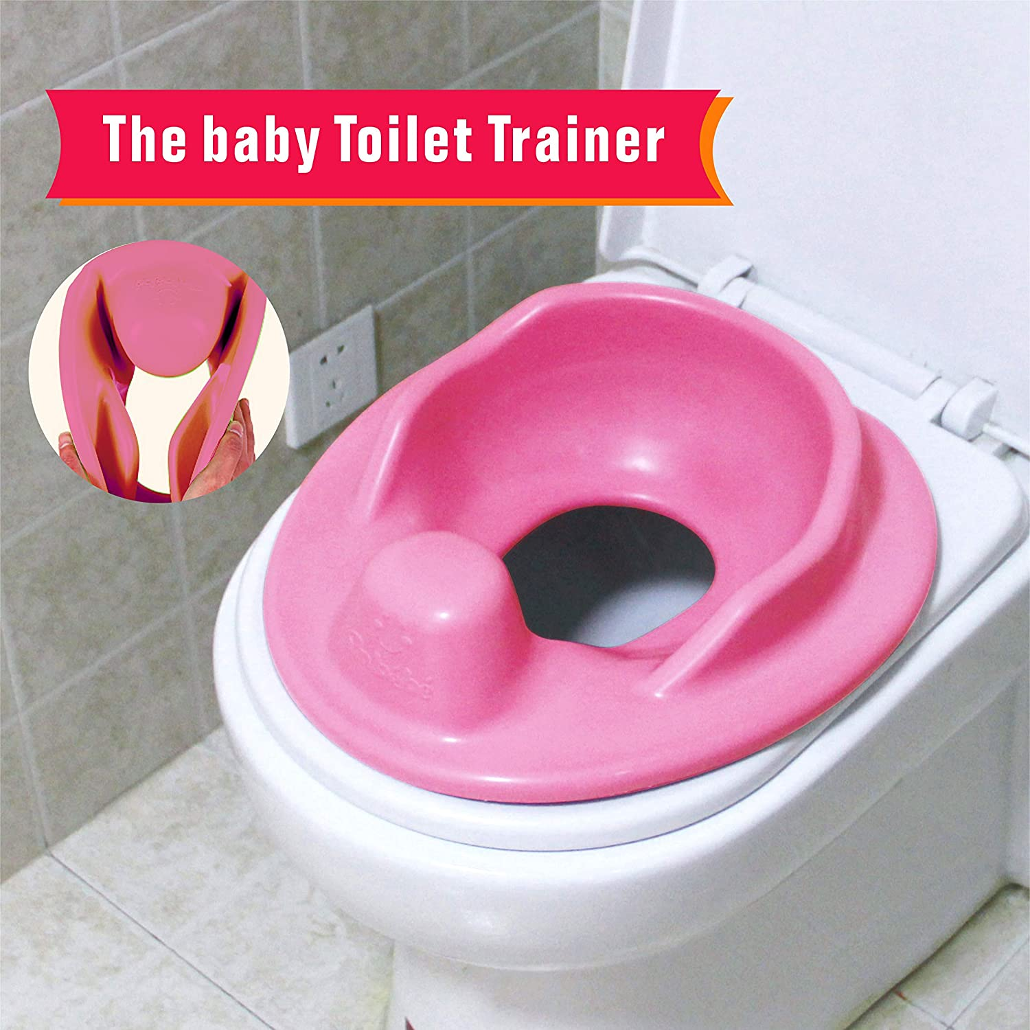 Toilet Trainer Potty Training Seat for Training Child | Potty Training Boys for Toddler Potty Ring | Fits Round and Oval Toilets | Free Folding Toilet Training Chart -Blue (Blue) Joren UAN-TT-Blue