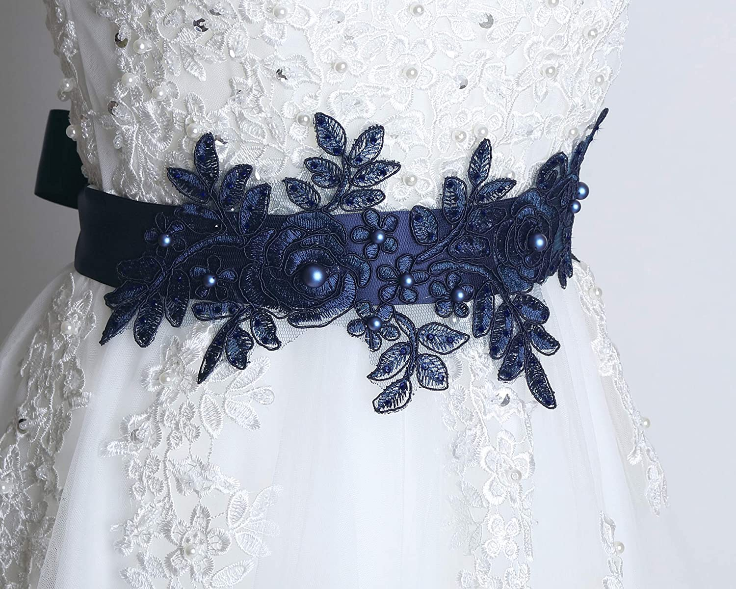 Amazon Com Navy Sash Belt Bridal Blue Sash Wedding Dress Sash