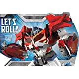 Amazon party tableware today transformers birthday invitations amscan mighty transformers birthday party postcard invitation kit 8 pack 6 x filmwisefo