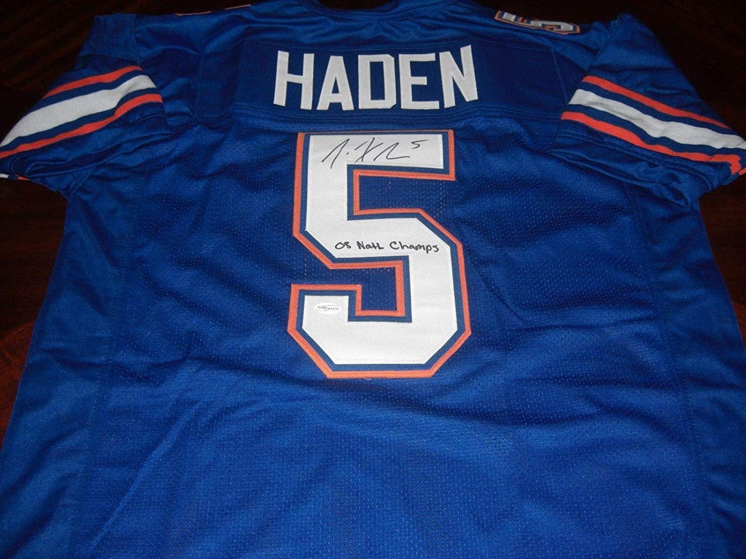 sports shoes 4d7bb ccead Joe Haden Signed Jersey - 08 National Champs Tse holo ...