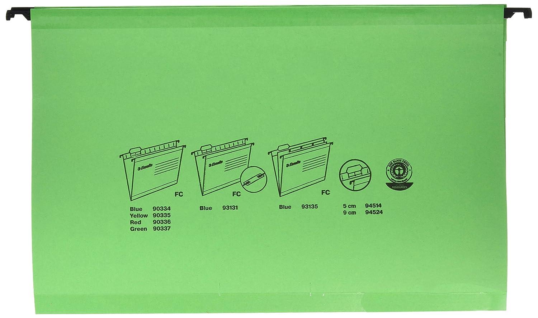 Verde,carta protocollo Esselte 90337 Portaetichette con etichette Confezione da 25 cartelle Cartoncino rinforzato