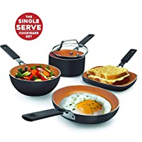 Gotham Steel Stackmaster Mini Single-Serve 5-Pc Cookware Set