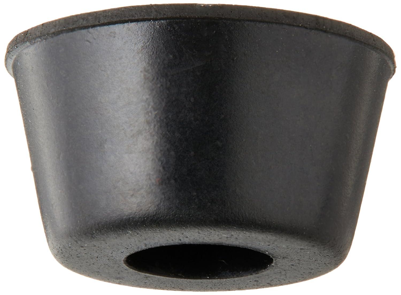 10pcs 21mm x 12mm conique encastré Pieds en caoutchouc pare-chocs Coussinets Noir Sourcingmap a11120700ux0246