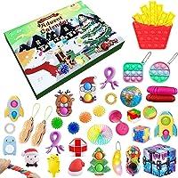 NINGJING Adventskalender Fidget Speelgoed Set Kerst Countdown 24 dagen Count Down Gift voor Kinderen, Vakantie Sensory…