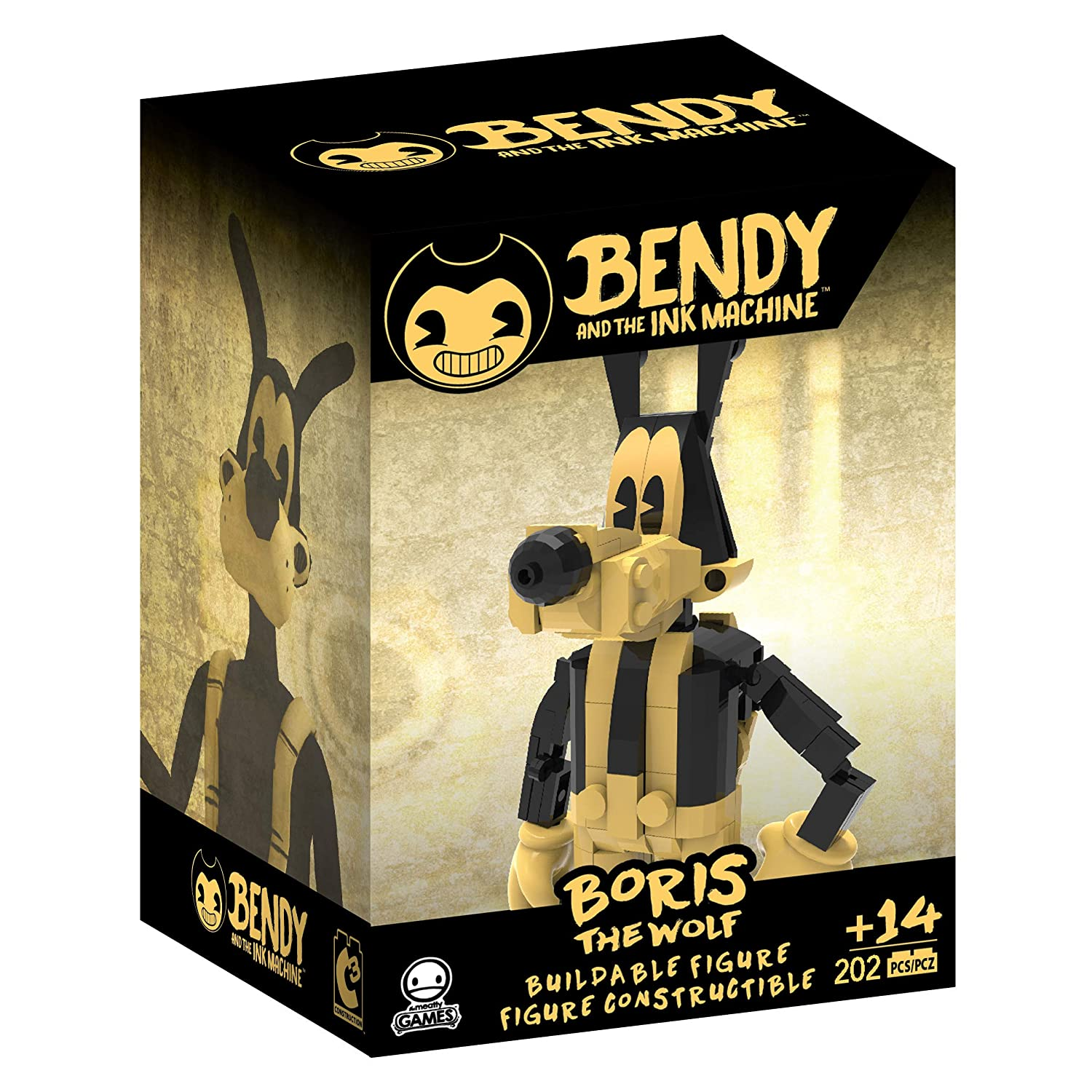 Bendy And The Ink Machine Buildable Figs BORIS THE WOLF