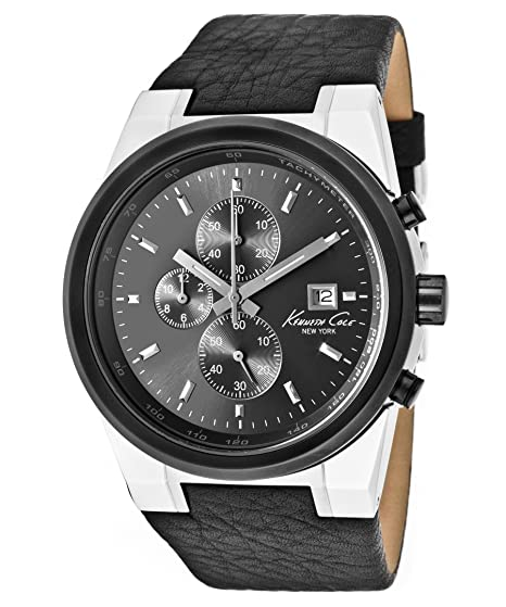 7be26c20e0a Kenneth Cole Leather Strap Watch for Men  Kenneth Cole  Amazon.ca  Watches