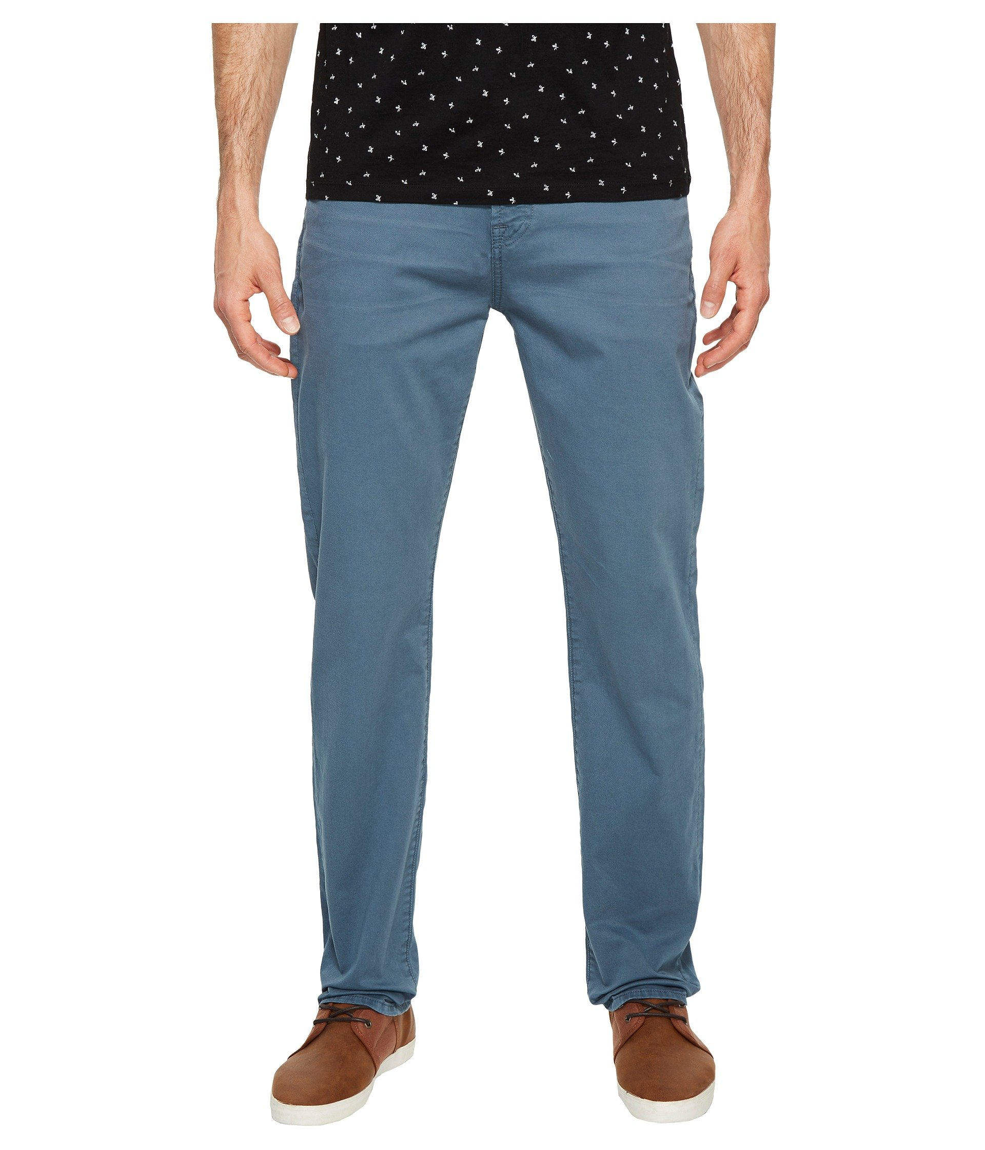 7 For All Mankind Men's The Straight Leg Chino With Clean Back Pocket, Blue Wave, 29