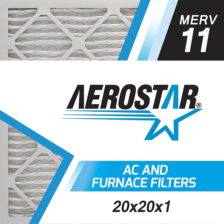 Aerostar 20x20x1 エアコン&ファーネス用エアフィルター MERV11 12枚セット 12PK MERV 11  B01LTG7CRM