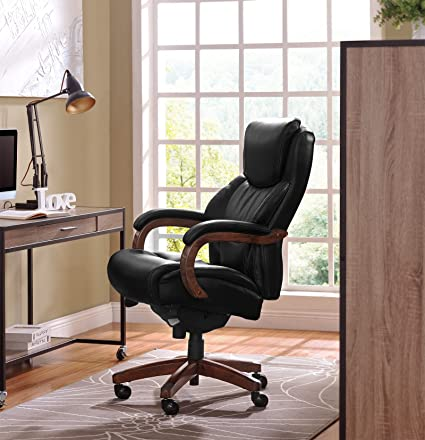 La Z Boy LaZBoy 45833A Delano Chair Traditions Executive Office, Big And  Tall, Black