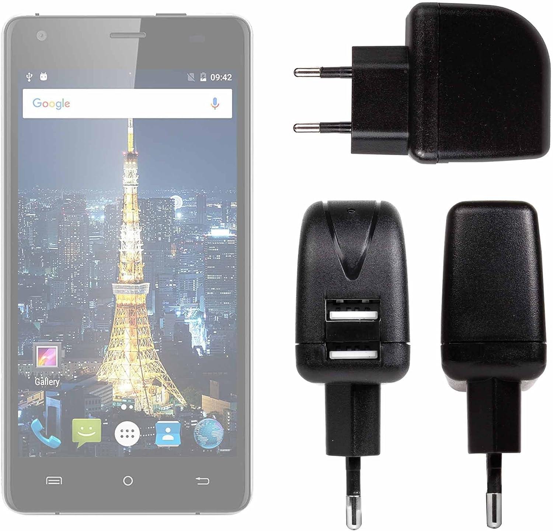 DURAGADGET Cargador con Enchufe Europeo para Smartphone Cubot King Kong/Cubot Echo/Oukitel Mix 2: Amazon.es: Electrónica