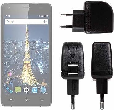 DURAGADGET Cargador con Enchufe Europeo para Smartphone Cubot King ...