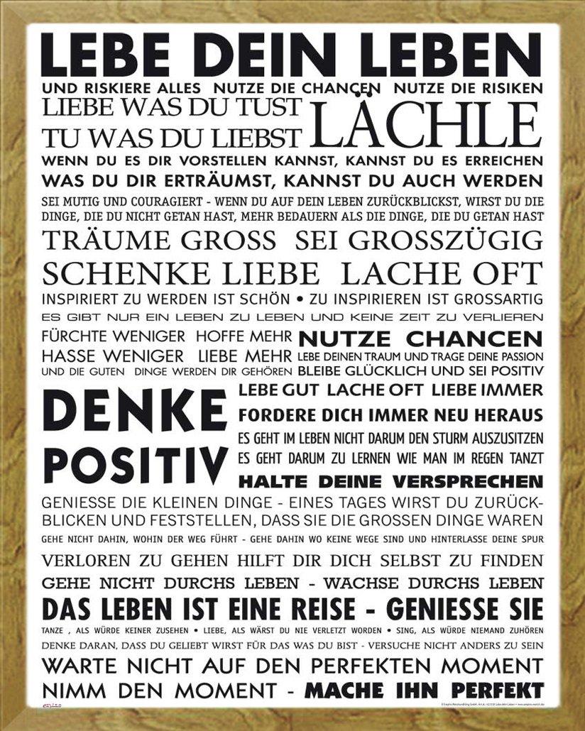 Amazon.de: Motivational - Lebe Dein Leben Motivations Mini Poster ...