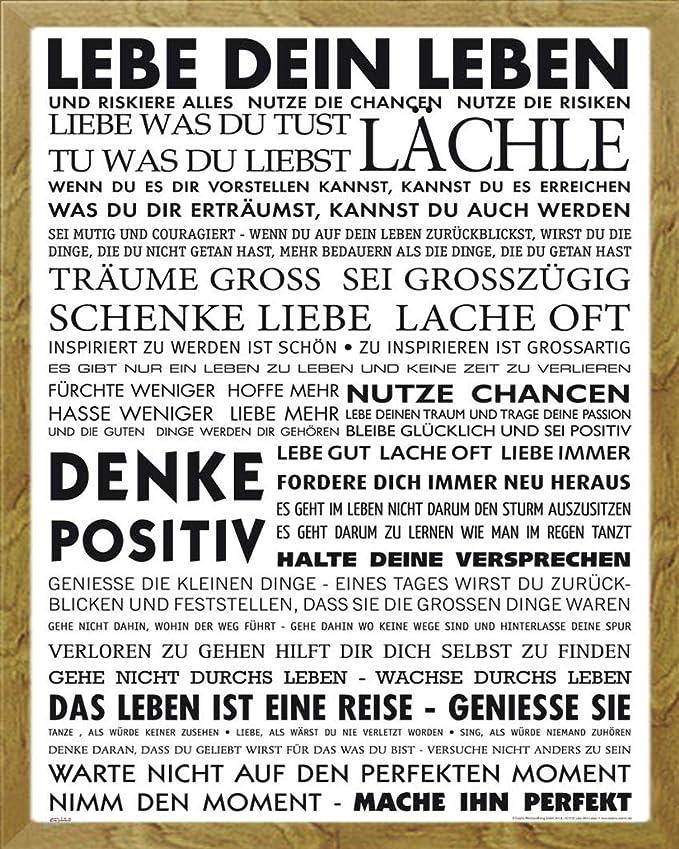 Motivational - Lebe Dein Leben Motivations Mini Poster Plakat Druck ...
