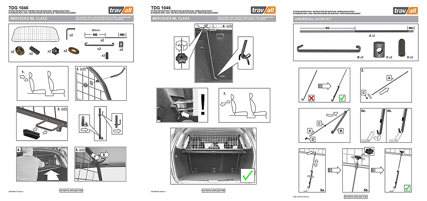 Travall Guard For Mercedes Benz M Class 2005 2011 W163 Wiring Diagram Tdg1046 Rattle Free Steel Pet Barrier Automotive Safety Products Supplies