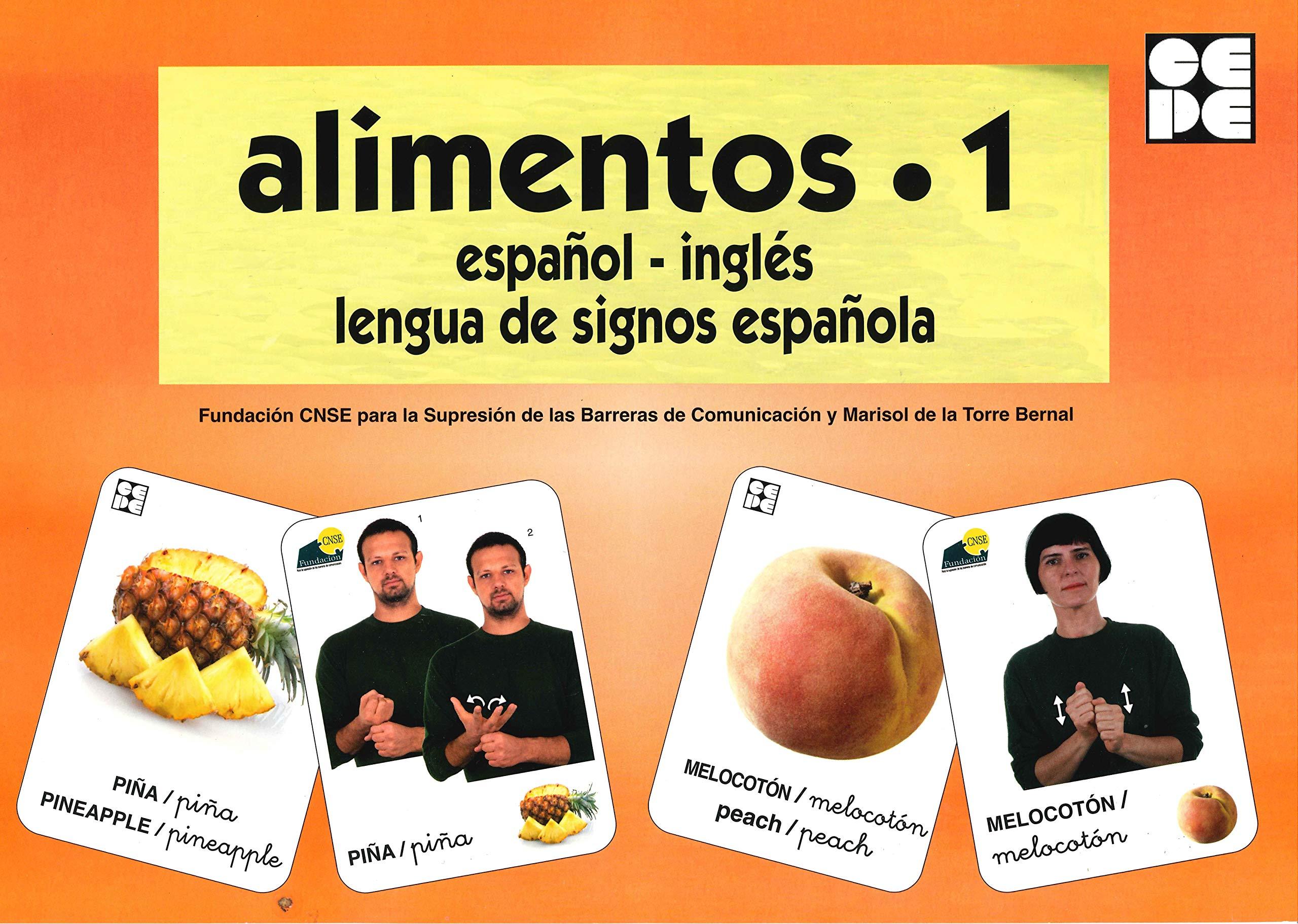 Vocabulario fotográfico elemental - Alimentos 1 frutas Vocabulario fotográfico elemental español,inglés,lengua de signos española: Amazon.es: CNSE, Fundación, de la Torre Bernal, Marisol: Libros