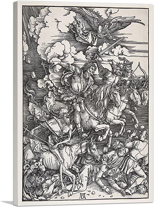 Durer CANVAS PRINT Four Horsemen of the Apocalypse