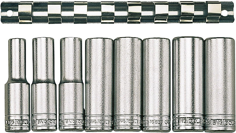 Teng M1207 9 Piece Clip Rail Socket Set Metric-1//2in Drive