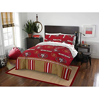 MISC 5 Piece SF 49ers Comforter & Sheets Set Full Queen, Football Sports Bedding for Boys Kids Bedroom Team Logo Printed Collegiate Pattern Home Decor Game Fans Gift Super Soft Cozy Quality Polyester: Home & Kitchen