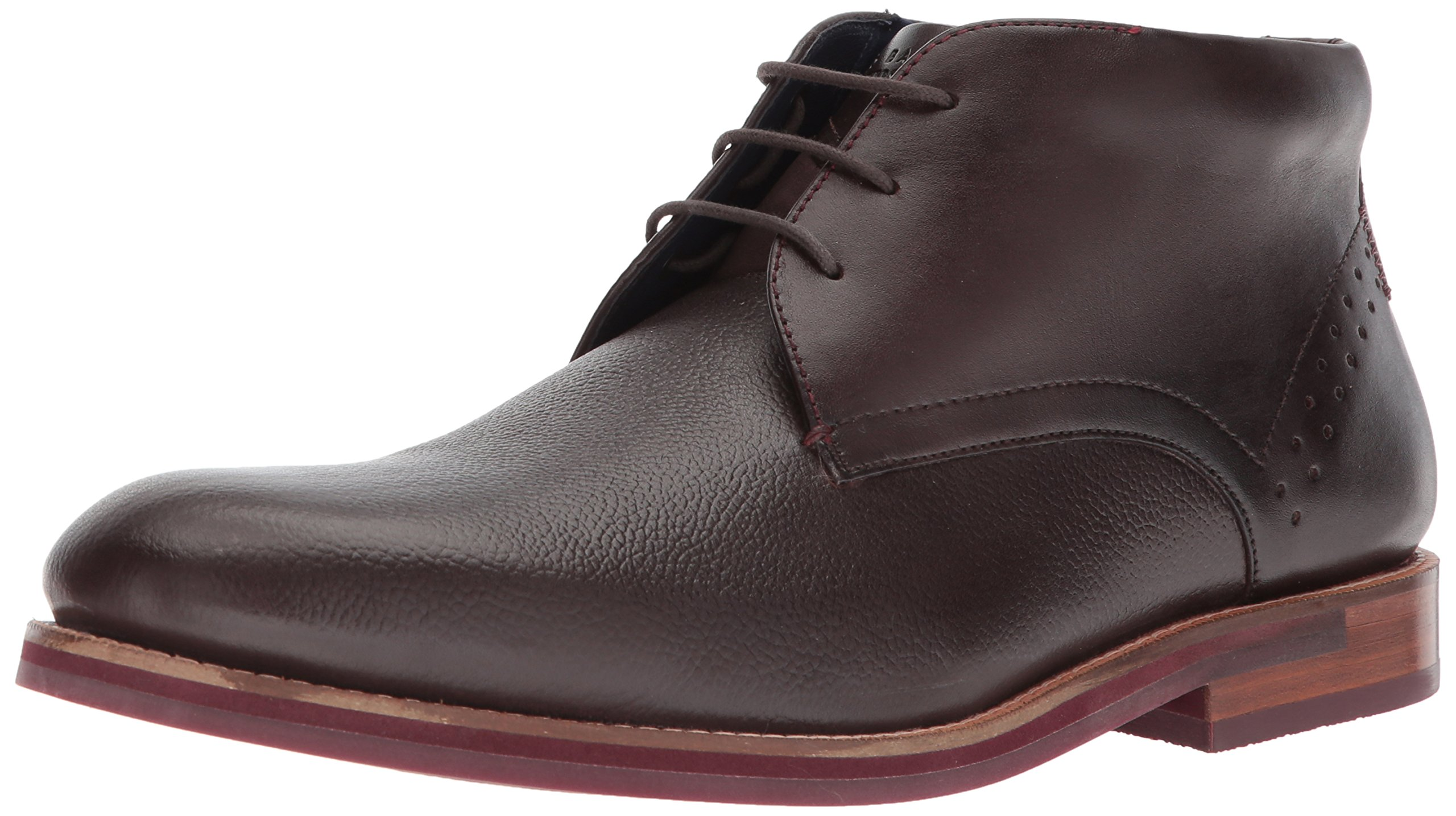 Ted Baker Men's Daiino Boot, Brown Leather, 7.5 D(M) US