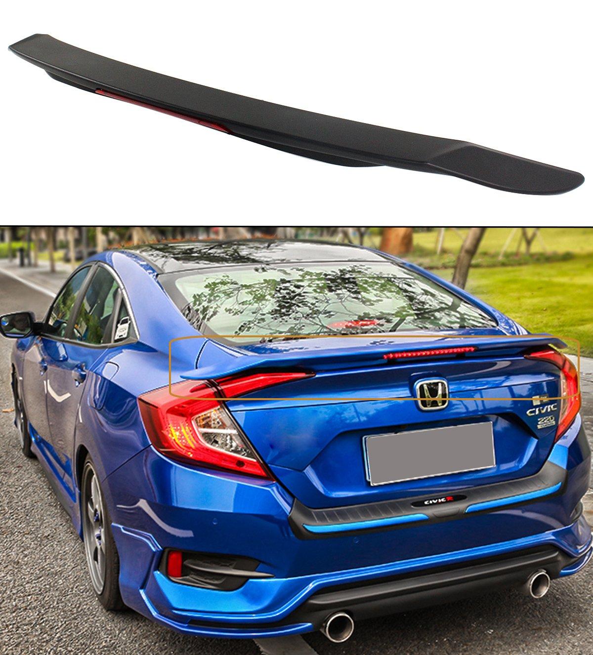 D Style Rear Roof Spoiler Wing Unpainted For Honda Civic 10th Sedan 2016~2018