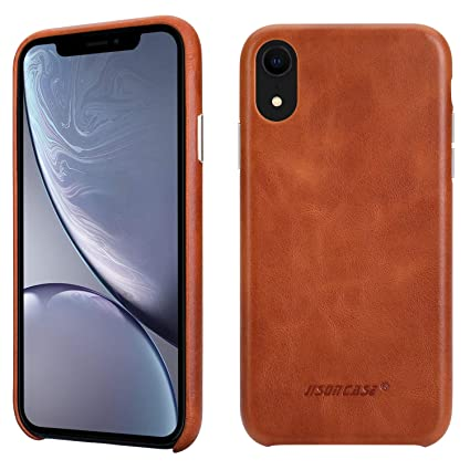 Amazon Com Jisoncase Iphone Xr Leather Case Cover Slim Shell Snap