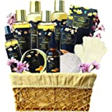 Extra large Spa Gift Basket for Mom! Pampering Relaxing Honey Almond Spa Gift Set For Men and Women. Natural Bath Gift Set. I