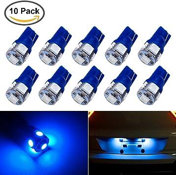 New Lamp Blue 12V Interior  Dashboard T10 W5W Wedge Side Light Car Halogen Bulb
