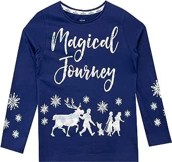 Disney Camiseta de Manga Larga para niñas El Reino del Hielo Frozen
