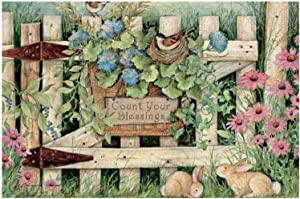 300 Piece Wooden Jigsaw Puzzle Garden Gate Large Puzzle Game for Adults and Teenagers