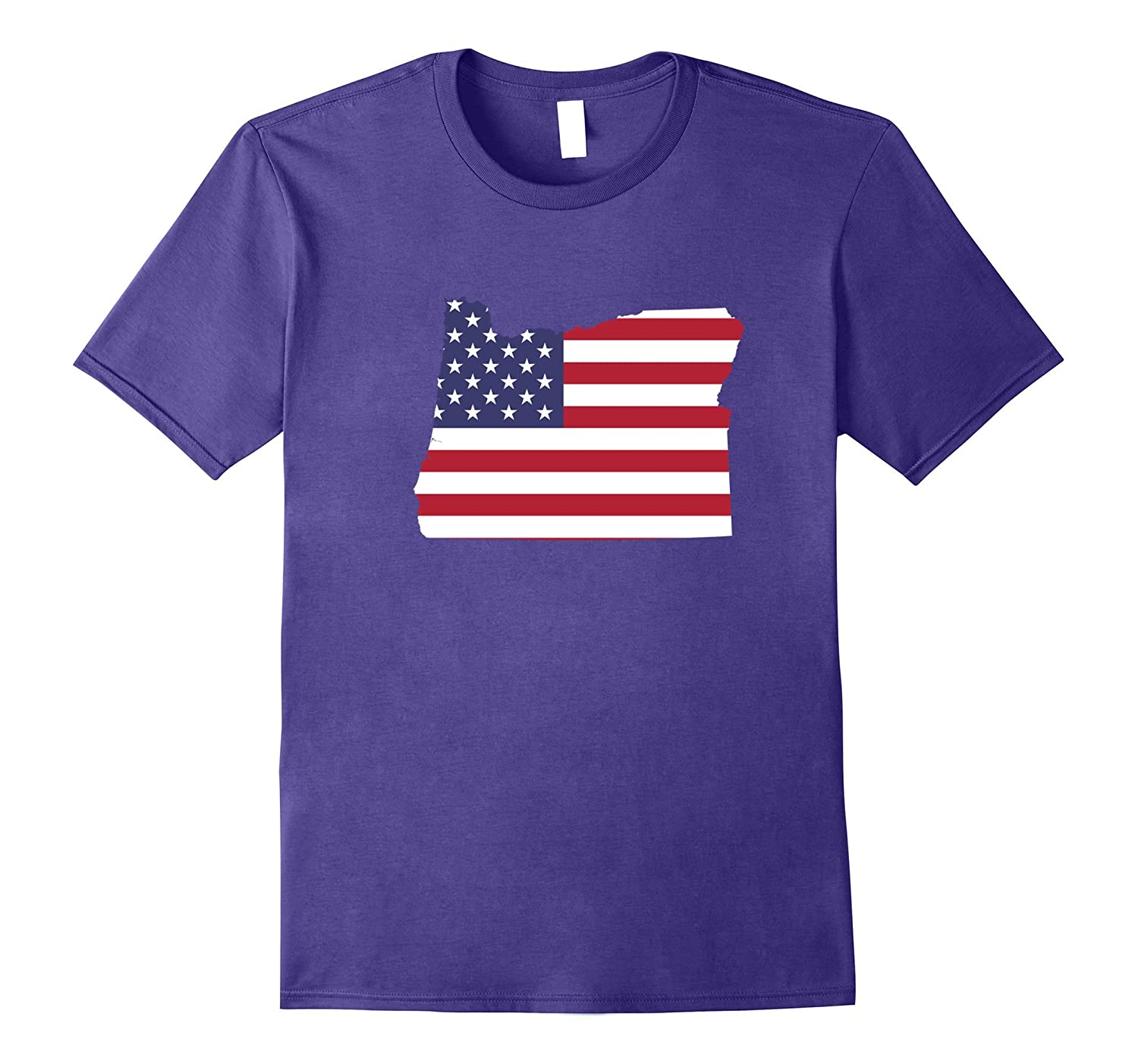 4th Of July Oregon State American Flag Party T-Shirt-TH