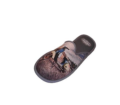 Zapatillas de Estar por casa. Biorelax.Primavera-Verano/De Lona.Dibujo