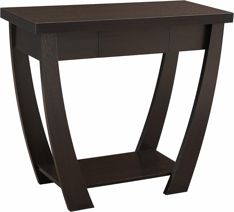 ioHOMES Bond 1 Drawer Console Sofa Table, Cappuccino