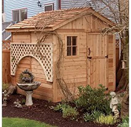amazon com wood outdoor storage shed great little shed to