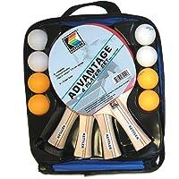 KETTLER Advantage Mesa DE Interior Bundle: 4Jugador de Tenis Conjunto (4Raquetas/paletas y 8Pelotas)