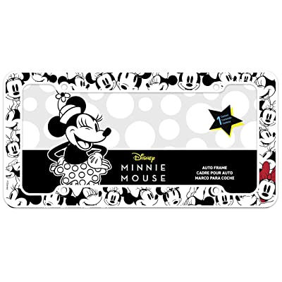 Chroma Graphics Disney Black, White, and red Chroma 42572 Minnie Mouse License Plate Frame: Automotive