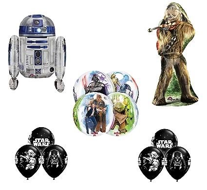 Amazon.com: Star Wars Feliz cumpleaños Globos Decoración ...