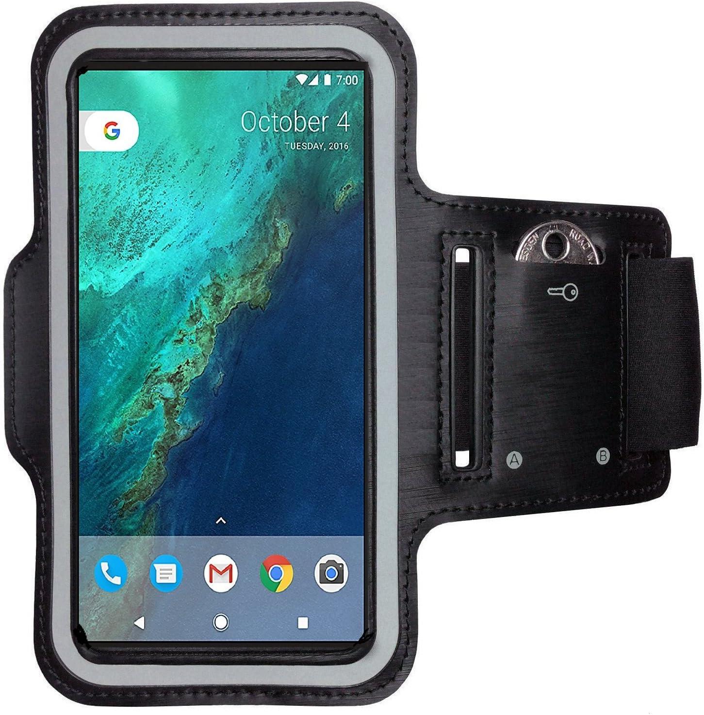 CoverKingz Armtasche f/ür Google Pixel 3 XL Sportarmband mit Schl/üsselfach Laufarmband Fitness Handy Armband Schwarz