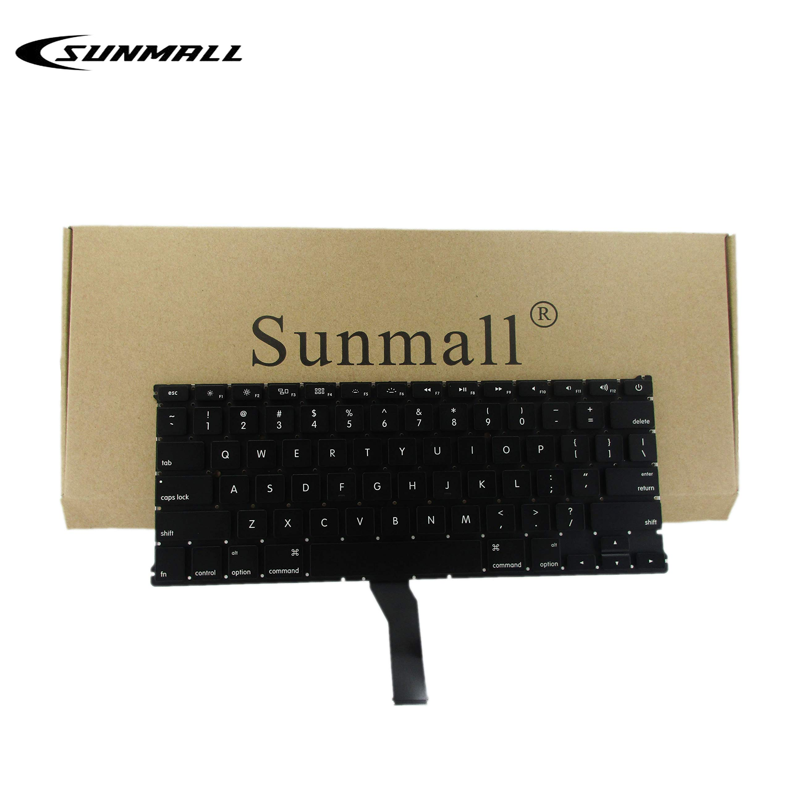 SUNMALL Backlight Backlit Keyboard Replacement for Apple MacBook Air 13'' A1369 (2011) A1466 (2012-2015) MJVE2LL/A MD760LL/A MC965LL/A MD231LL/A MJVG2LL/A Series Laptop Keyboard (6 Months Warranty)