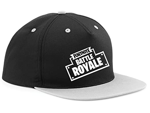 7b75e3fff0a Snapback Cap HAT Fortnite Victory Battle Royale Gaming Adjustable (Grey  Peak)