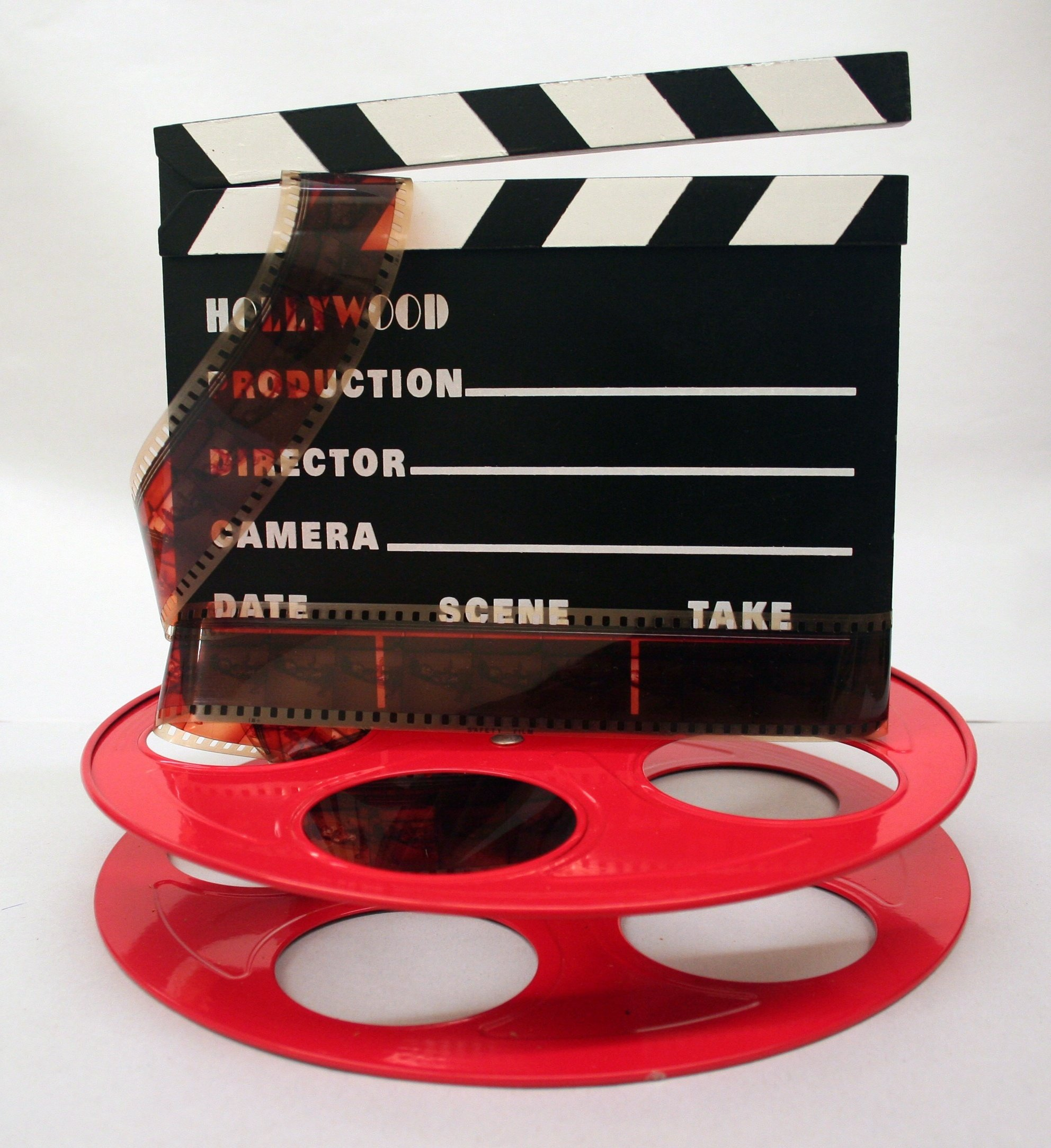 Hollywood Studio Clapboard & Reel Centerpiece - Red