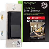 GE Enbrighten Z-Wave Plus Smart Light Dimmer with QuickFit and SimpleWire, Works with Alexa, Google Assistant…