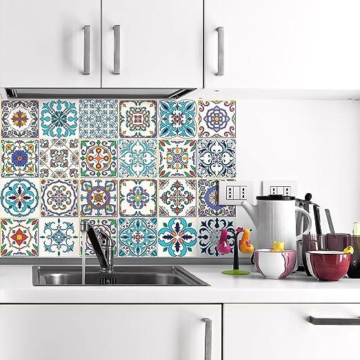 Mosaikfliesen Küche | Ambiance Live 24 Aufkleber Fliesen Sticker Selbstklebend Fliesen