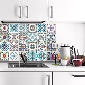 Ambiance 24 Adhesive Tile Adhesives Tile Sticker   Wall Tiles Bathroom And  Kitchen Mosaic Tiles | Stickers   Patchwork   10 X 10 Cm, ...
