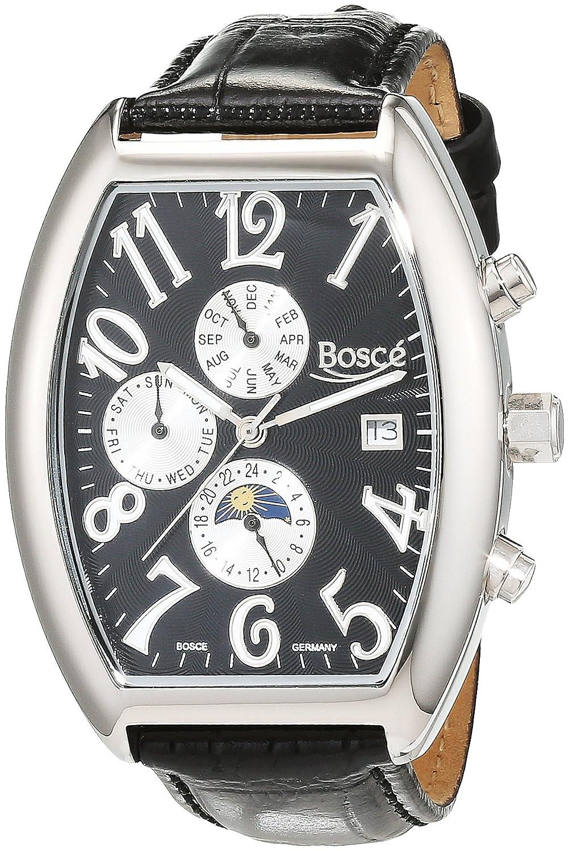 BoscÉ Herren-Armbanduhr Analog Automatik Leder BO-HQ10005-875S
