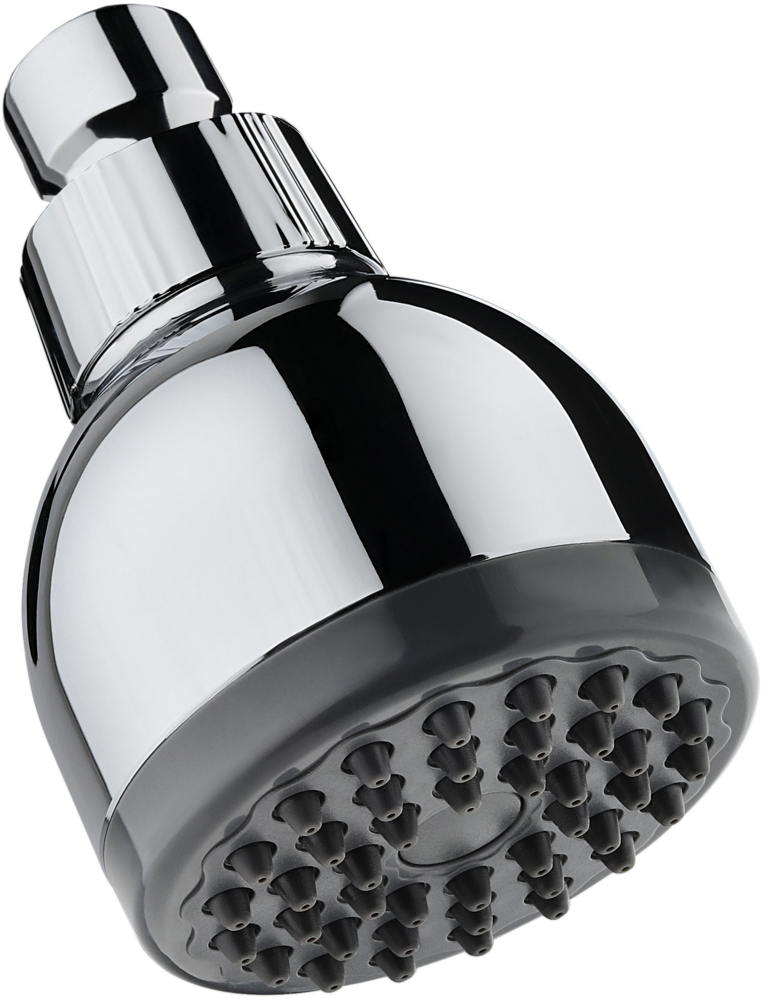TurboSpa 3 Inch High Pressure Shower Head w/Flow Restrictor Melts Stress into Bliss at Full Power. 42 Nozzle Wide Spray High Flow Showerhead Drenches You Fast, No Dry Spots Guaranteed - Chrome