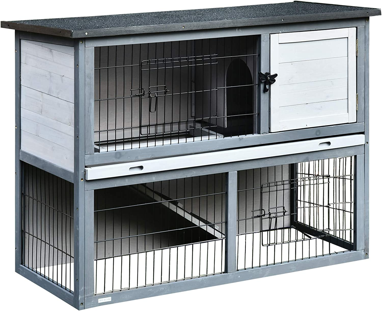 PawHut Small Wooden Dog Cage Bunny Rabbit//Guinea Pig House
