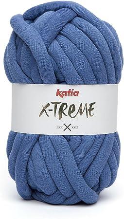 Ovillo de lana XXL Mega Chunky Katia X-TREME 200g para tejer y ...